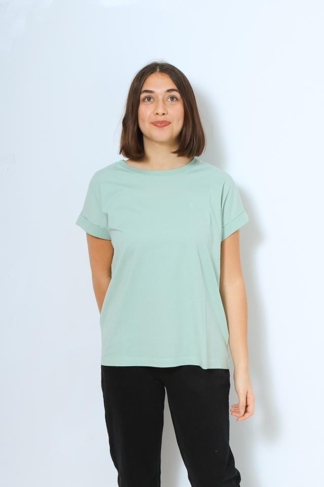 IDAA LOGO Shirts T-Shirt Solid matcha latte