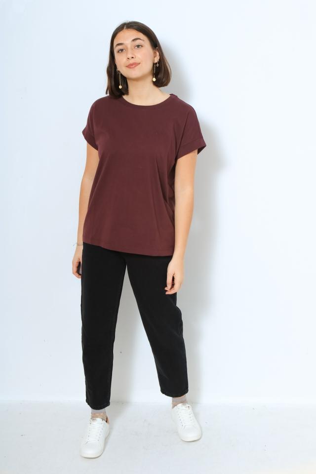 IDAA LOGO Shirts T-Shirt Solid aubergine