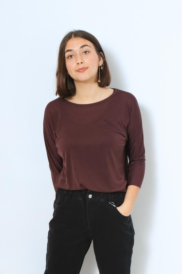 JAADY Shirts Longsleeve Solid aubergine