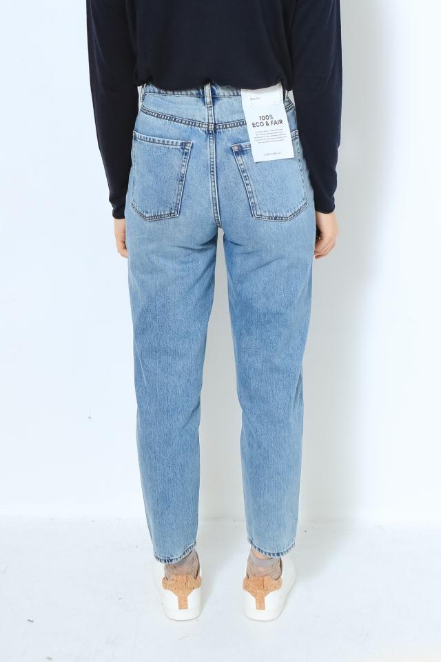MAIRAA Denims / 5 Pockets Mom Solid faded blue