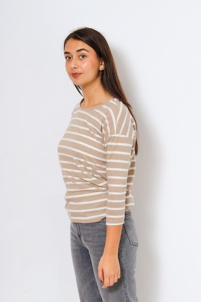 3/4 P TP Mia beige stripe