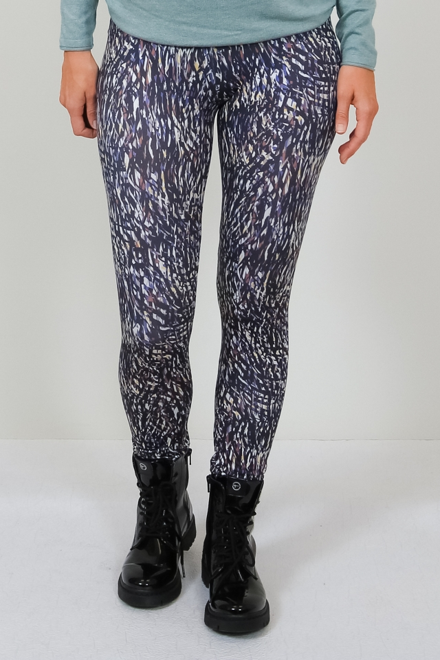 ONLARIA LONG LEGGINGS MU JRS Night Sky/W. WHITE MELANGE/LGM