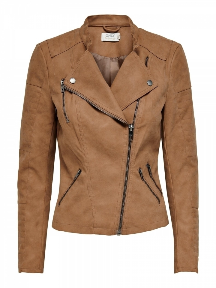 ONLAVA FAUX LEATHER BIKER OTW NOOS Toasted Coconut