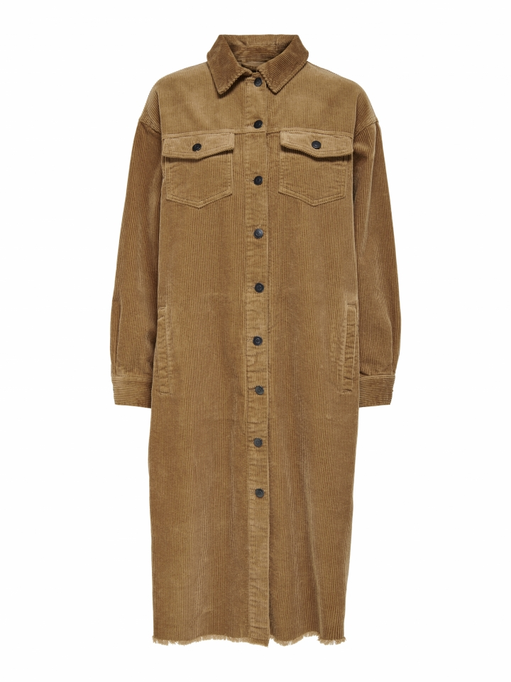 ONLBITTEN LIFE CORD LONG SHIRT PNT Toasted Coconut
