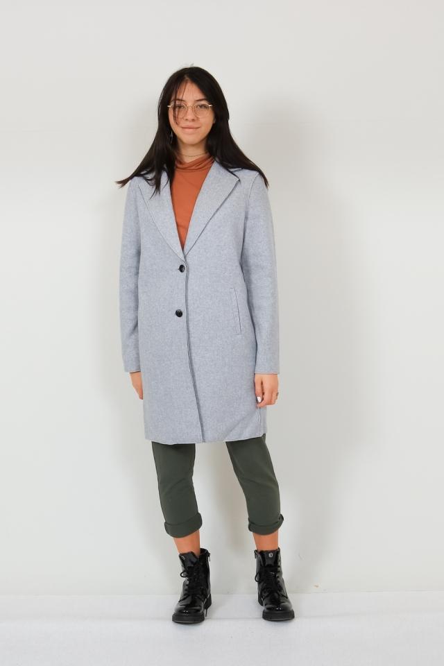 ONLCARRIE BONDED COAT OTW NOOS Light Grey Melange