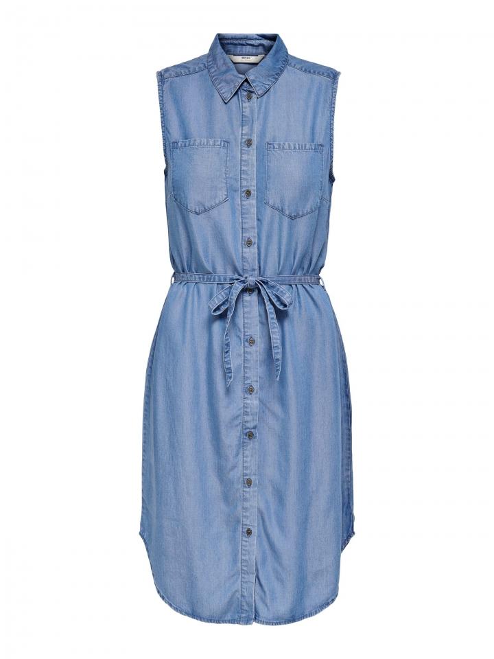 ONLCLAIRE BELT DNM DRESS Medium Blue Denim