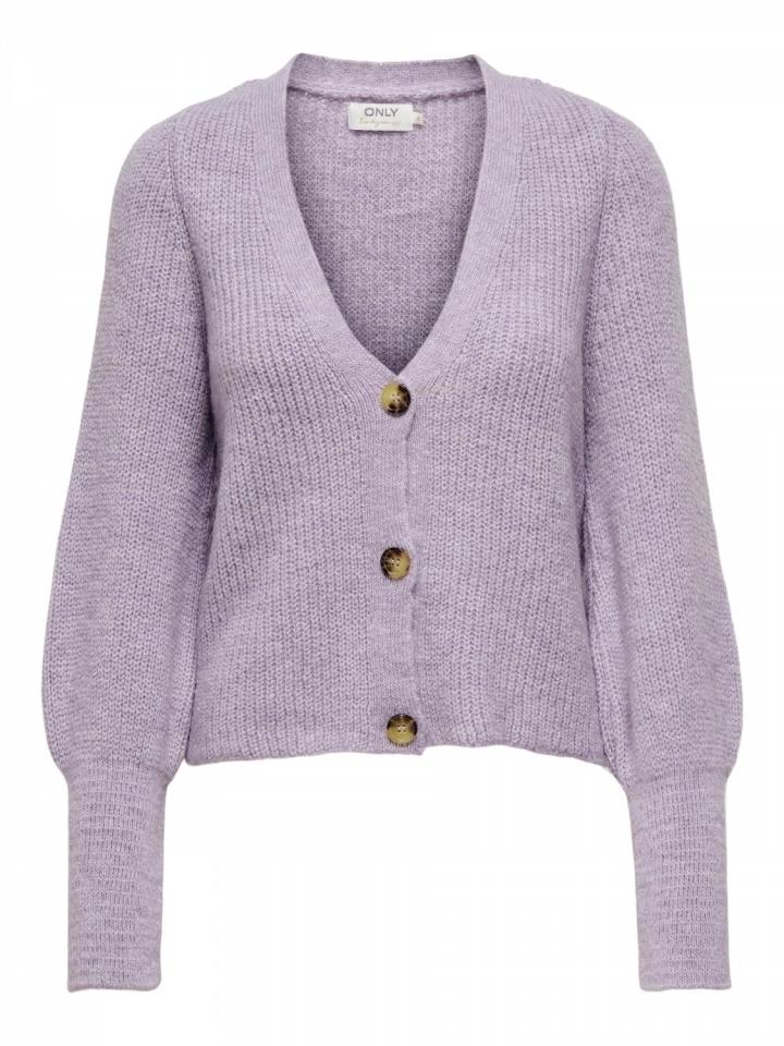 ONLCLARE L/S CARDIGAN KNT NOOS Languid Lavender/W. MELANGE