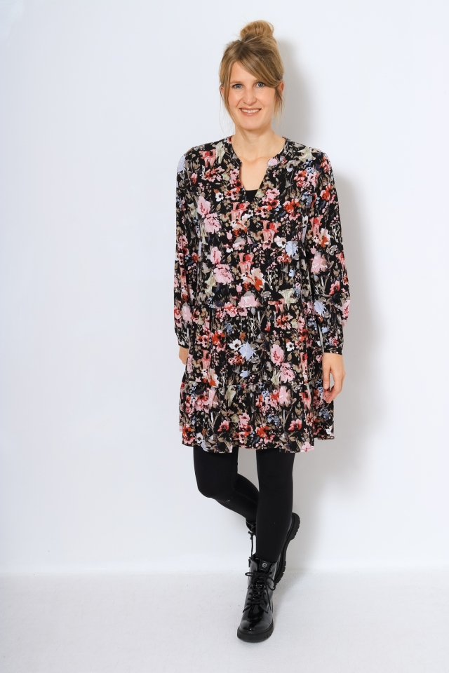 ONLDANIELLA L/S ATHENA DRESS WVN Black/MOUNTAINS