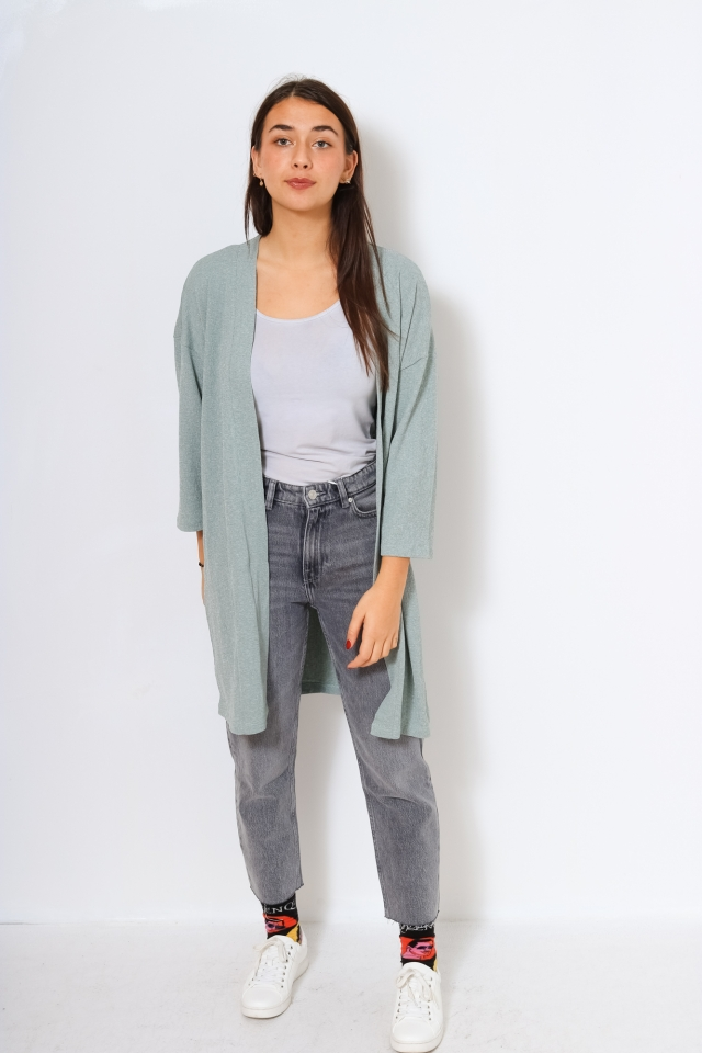 ONLDIANA 4/5 LONG CARDIGAN JRS Chinois Green