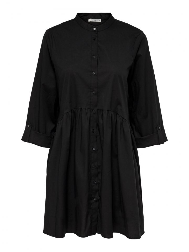 ONLDITTE LIFE 3/4 SHIRT DRESS NOOS Black