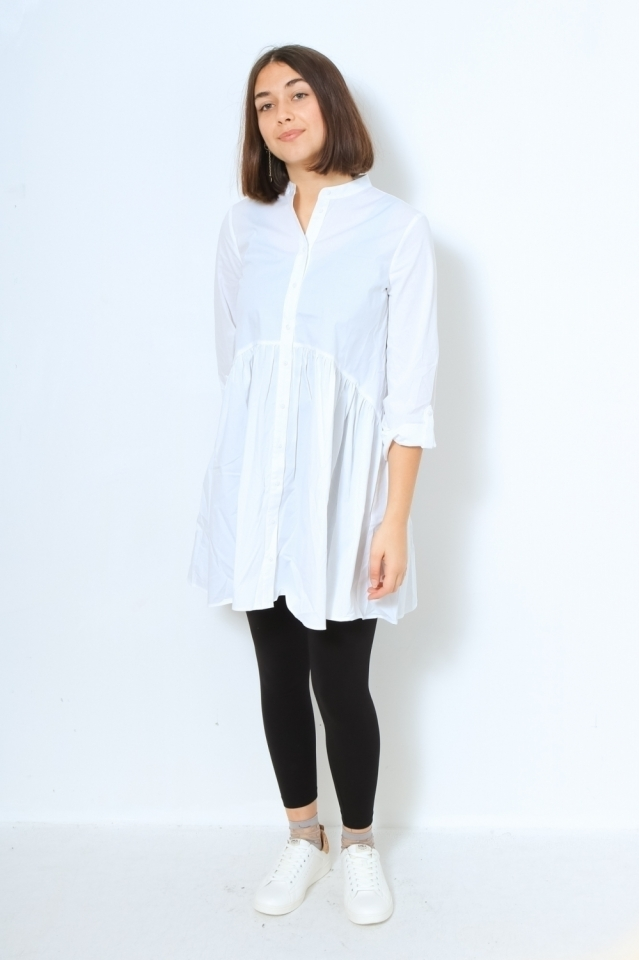 ONLDITTE LIFE 3/4 SHIRT DRESS NOOS White