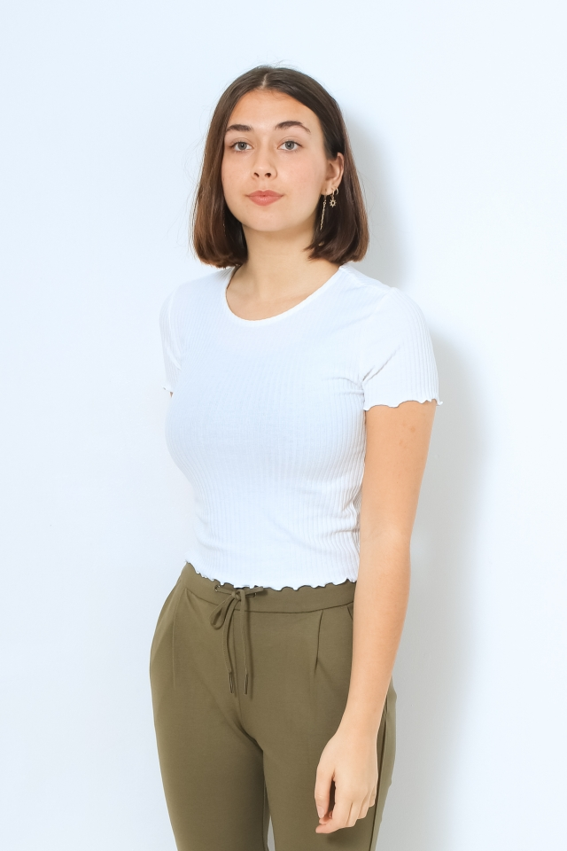 ONLEMMA S/S SHORT TOP NOOS JRS White