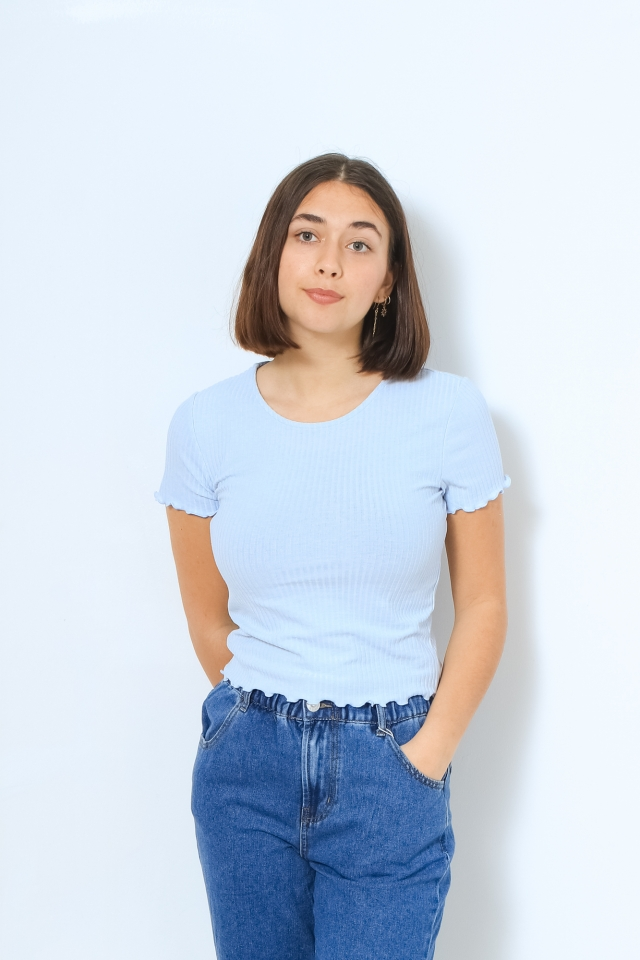 ONLEMMA S/S SHORT TOP NOOS JRS Halogen Blue