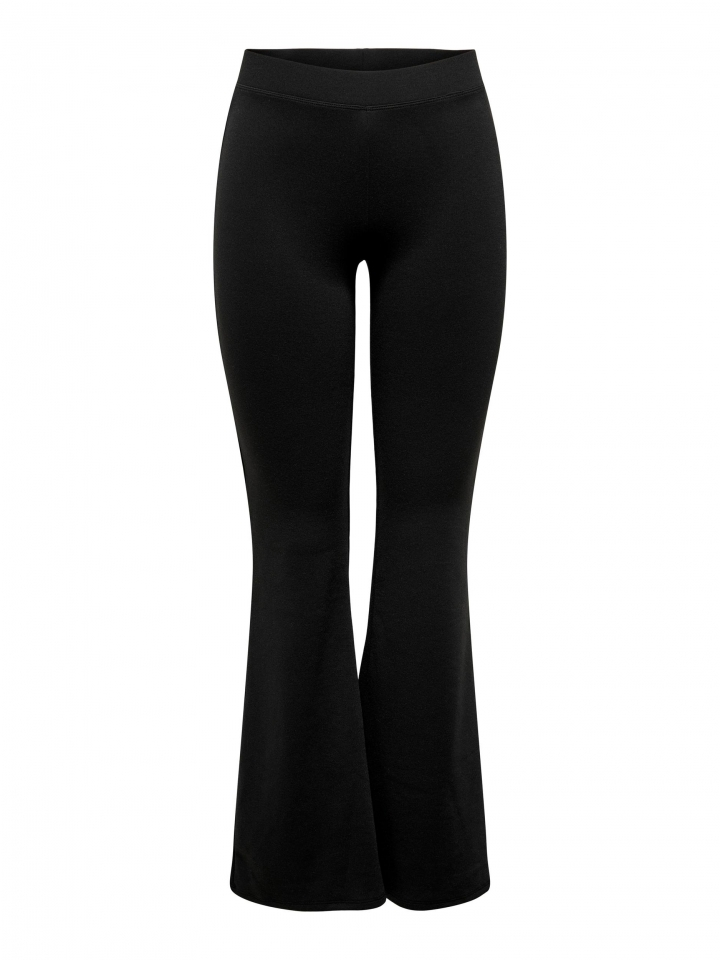 ONLFEVER STRETCH FLAIRED PANTS JRS Black