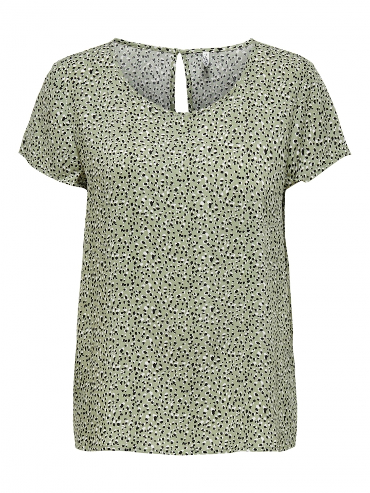 ONLFIRST ONE LIFE SS AOP TOP NOOS W Seagrass/MULTI DOT