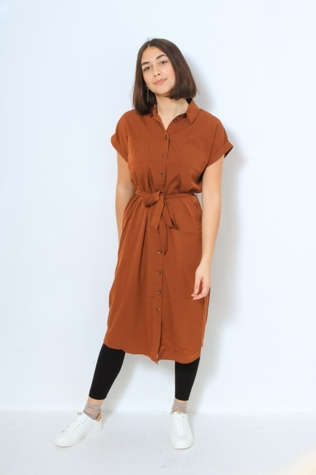 ONLHANNOVER S/S SHIRT DRESS NOOS WV Tortoise Shell