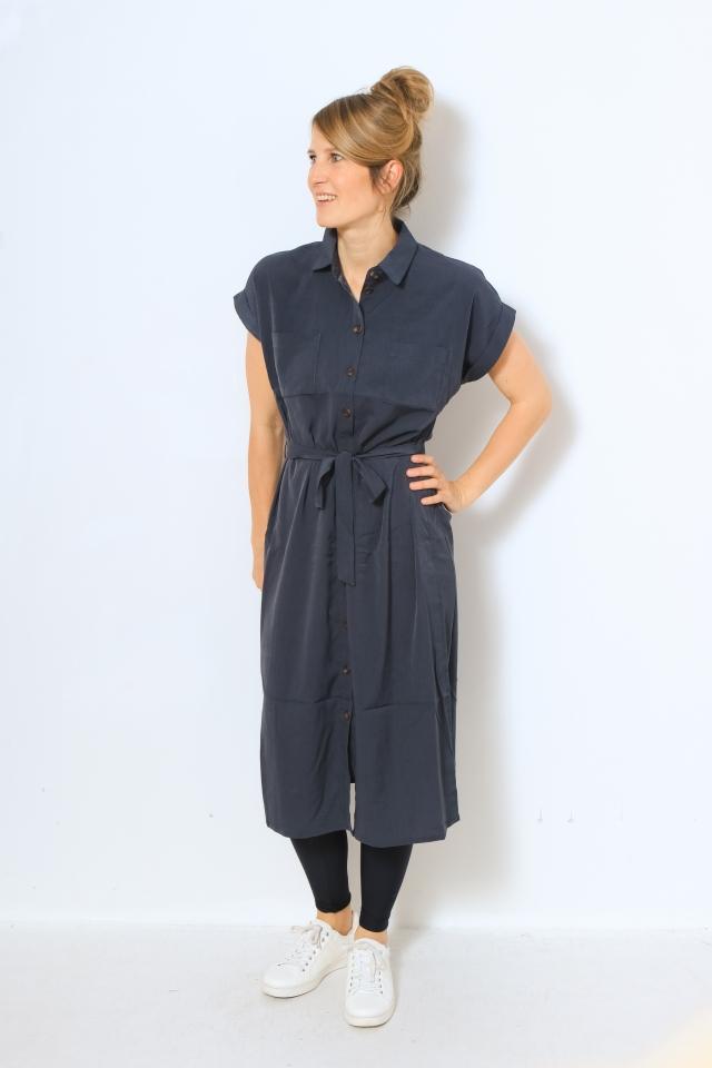 ONLHANNOVER S/S SHIRT DRESS NOOS WV India Ink