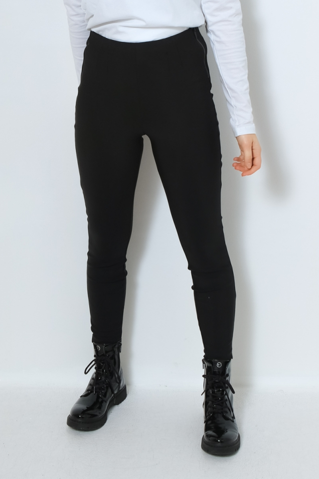 ONLY ONLHEAT HW ZIP LEGGING PNT Black
