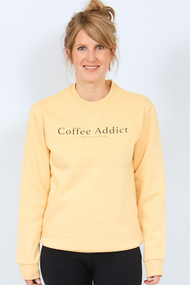 ONLISABELLA L/S O-NECK SWT Jojoba/COFFEE ADDICT
