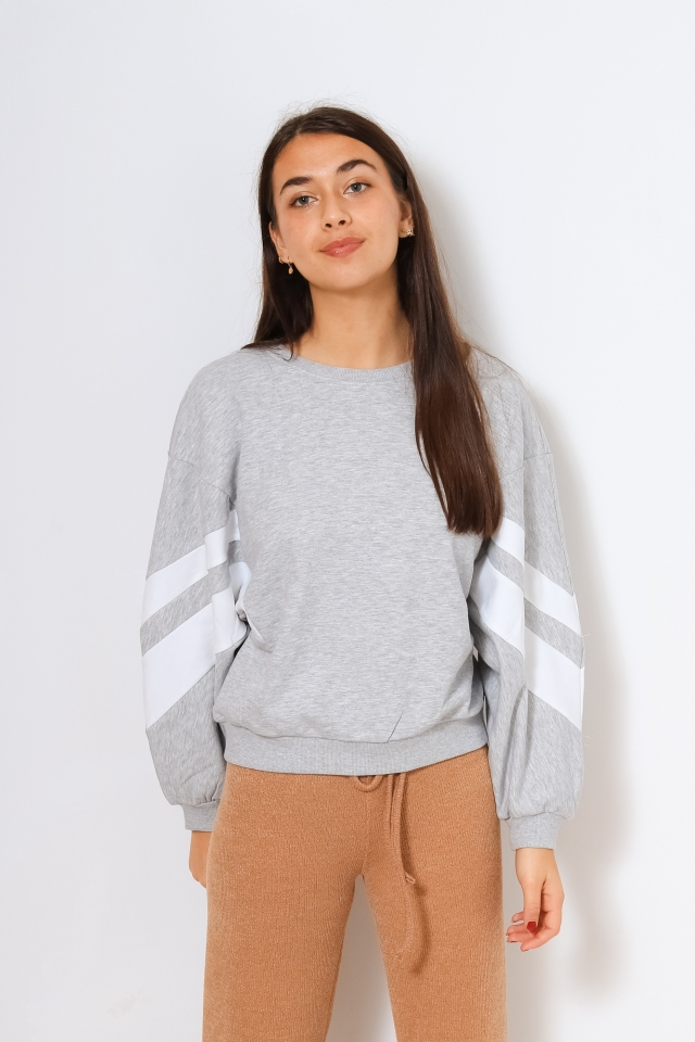 ONLY ONLJOSSA L/S SPORTY SWEAT Light Grey Melange