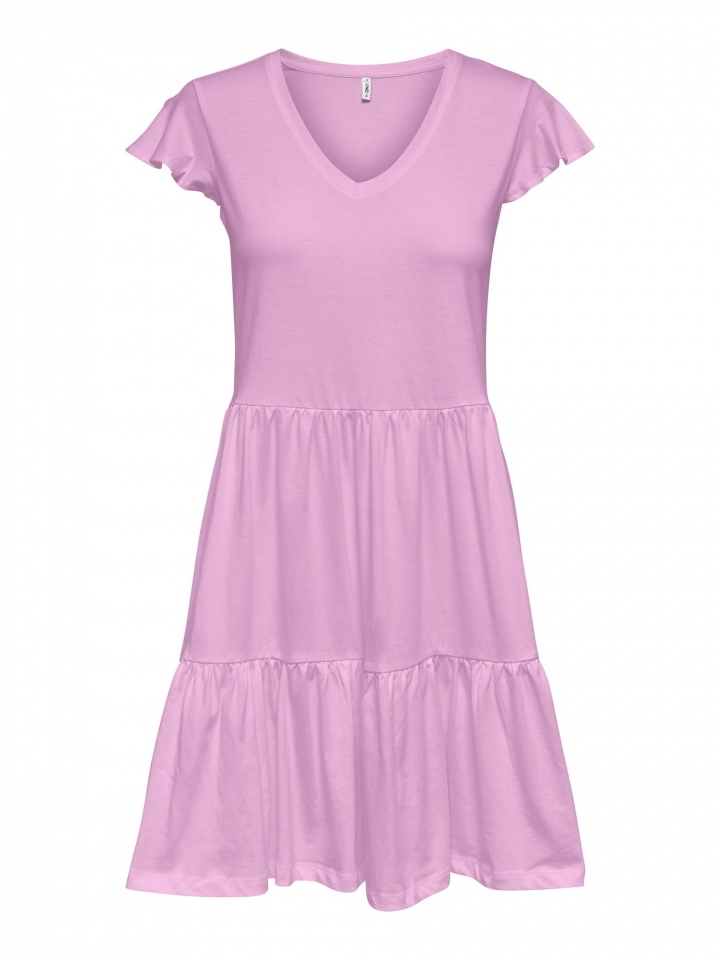 ONLMAY LIFE CAP SLEEVES FRILL DRESS Orchid Bouquet