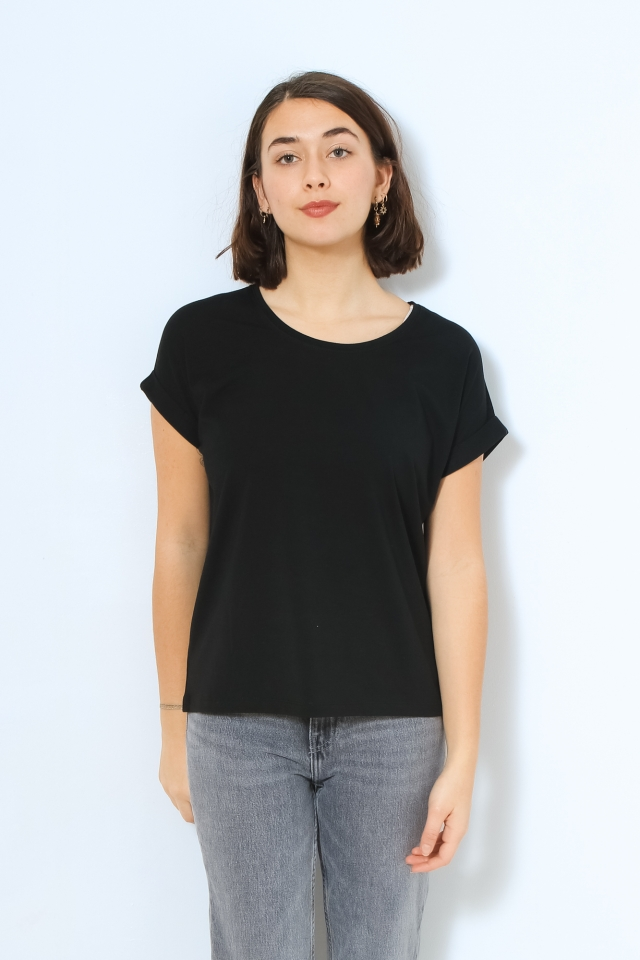 ONLMOSTER S/S O-NECK TOP NOOS JRS Black/MOUNTAINS