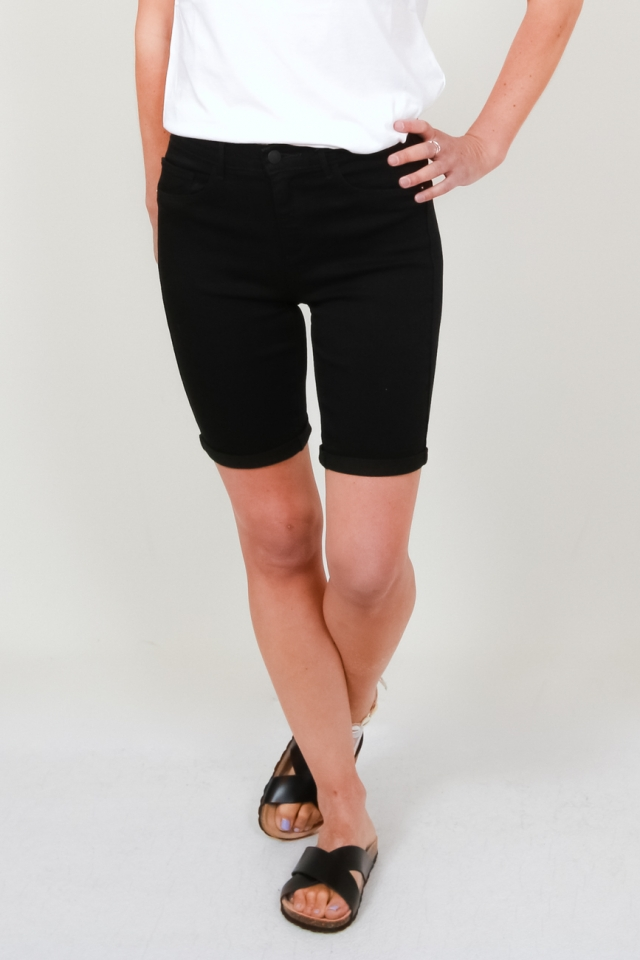 ONLRAIN MID LONG SHORTS BLACK CRY60 Black