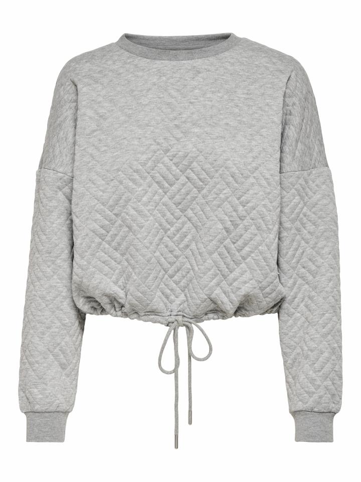 ONLSQUARE L/S STRING O-NECK CC SWT Light Grey Melange