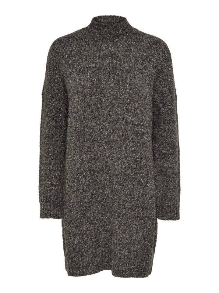 ONLTATA L/S DRESS CC KNT Dark Grey Melange/W. MULTI COLORED
