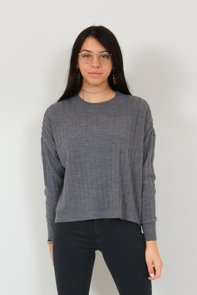 ONLTESSA L/S PULLOVER KNT Medium Grey Melange