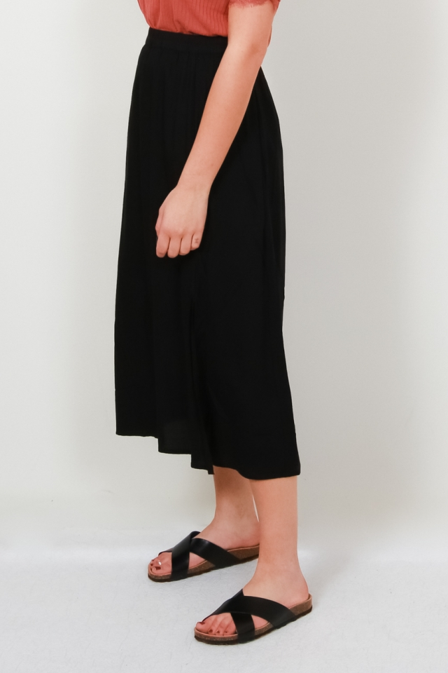 ONLVENEDIG PAPERBAG LONG SKIRT WVN Black