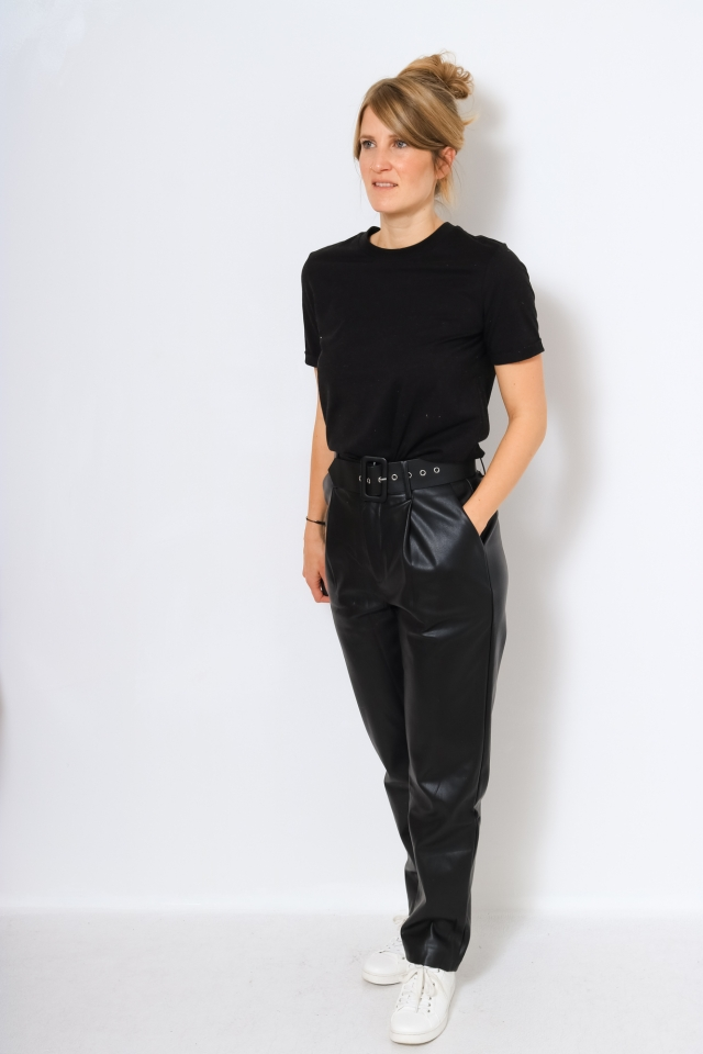 ONQNANNY HIGH WAIST PANT WVN Black