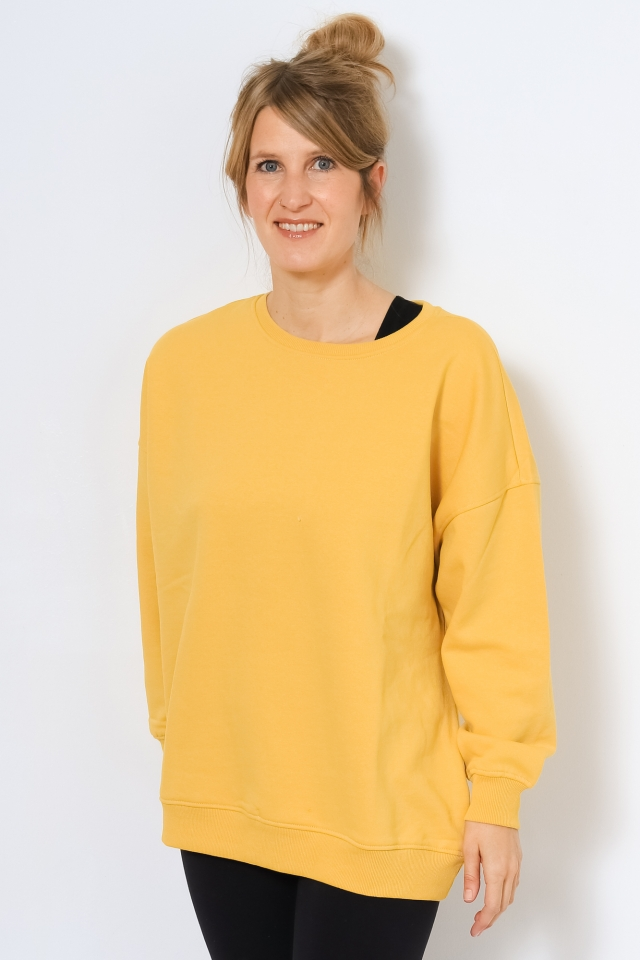 ONYFAVE LIFE L/S O-NECK OVERSIZED S Oil Yellow