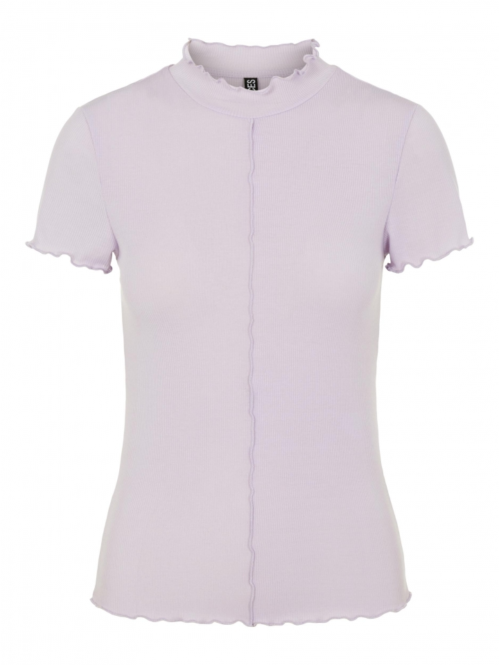 PCLOANA SS T NECK TEE BC Orchid Bloom