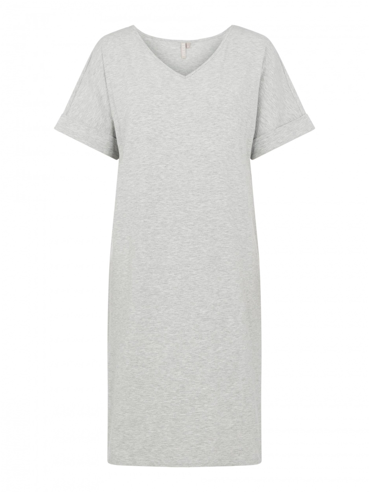 PCNEORA SS FOLD UP DRESS SWW Light Grey Melange