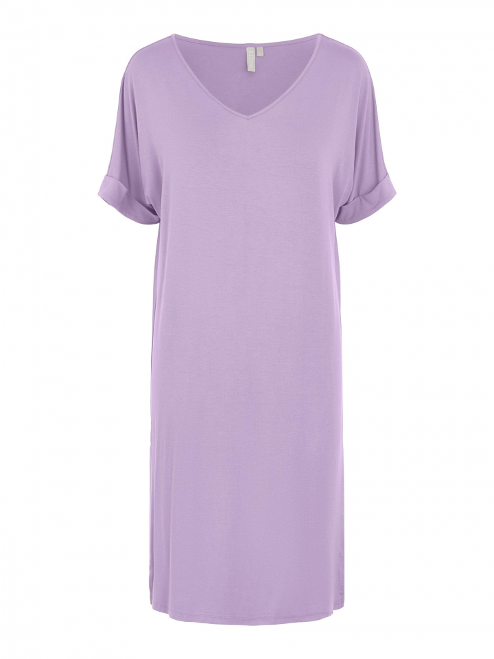 PCNEORA SS FOLD UP DRESS SWW Orchid Bloom