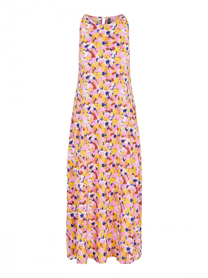 PCTAYLIN ANKLE DRESS Barely Pink/TIE DYE