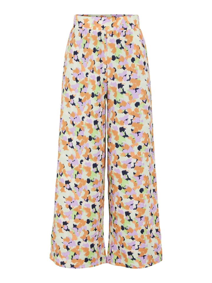 PCTAYLIN MW WIDE PANTS White Jade/BLURRY SPOTS