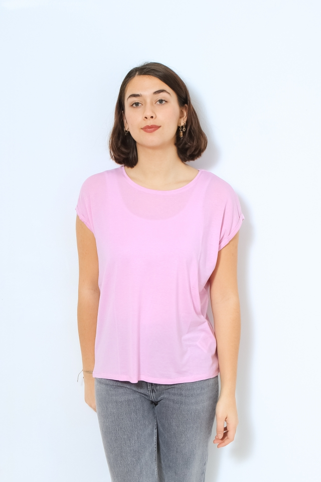 VMAVA PLAIN SS TOP GA COLOR Pastel Lavender