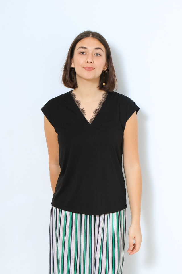 VMCARRIE SS TOP JRS VO Black
