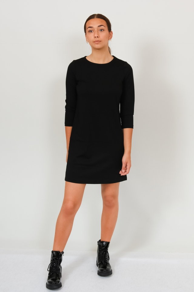 VMEVA 3/4 SLEEVE SHORT DRESS GA NOO Black