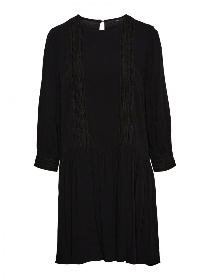 VMGIDGET 3/4 SHORT DRESS WVN Black