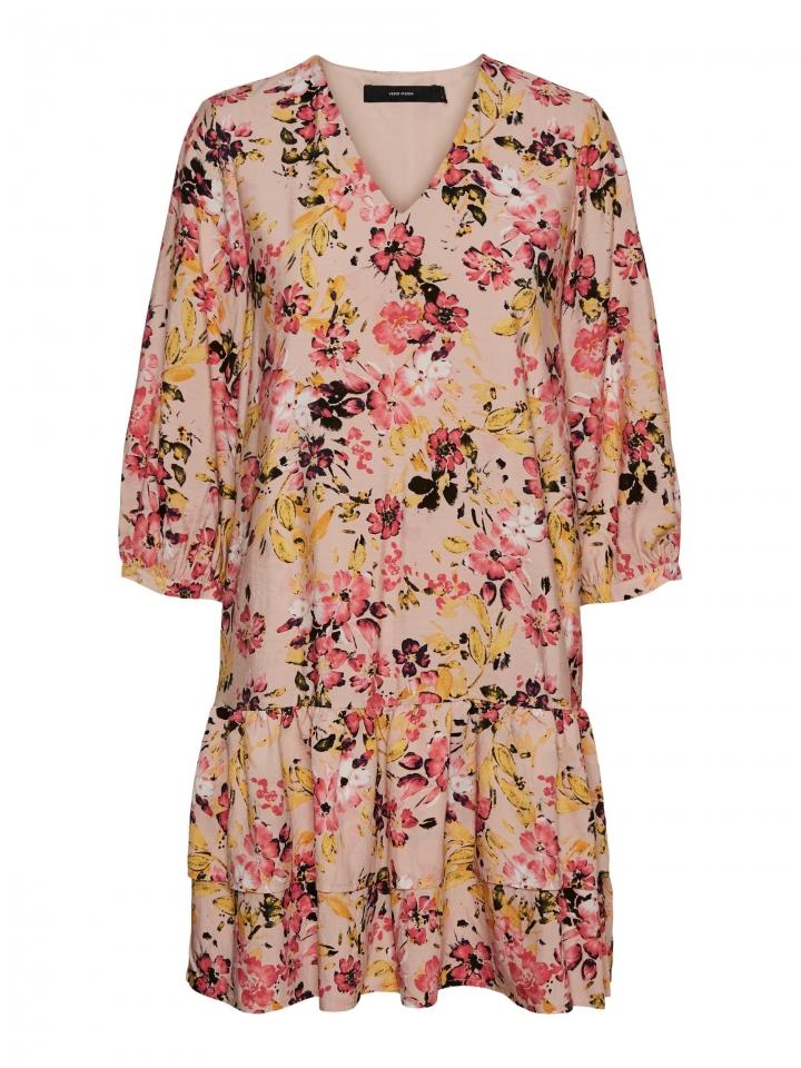 VMGIGI 3/4 SHORT DRESS WVN Sepia Rose/MELANGE