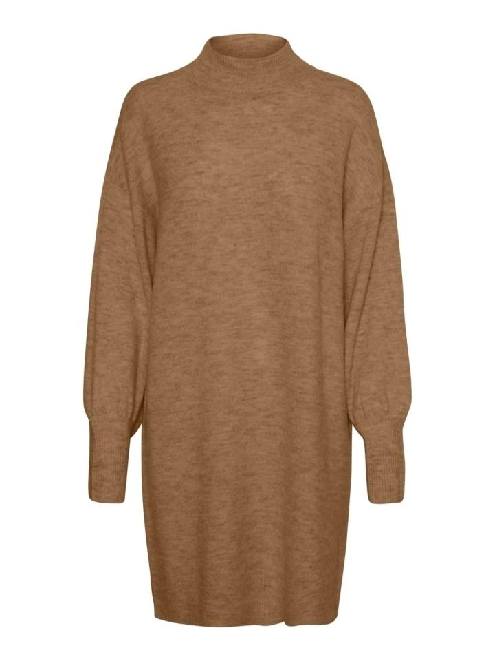 VMLEFILE LS HIGHNECK DRESS COLOR Tobacco Brown/MELANGE