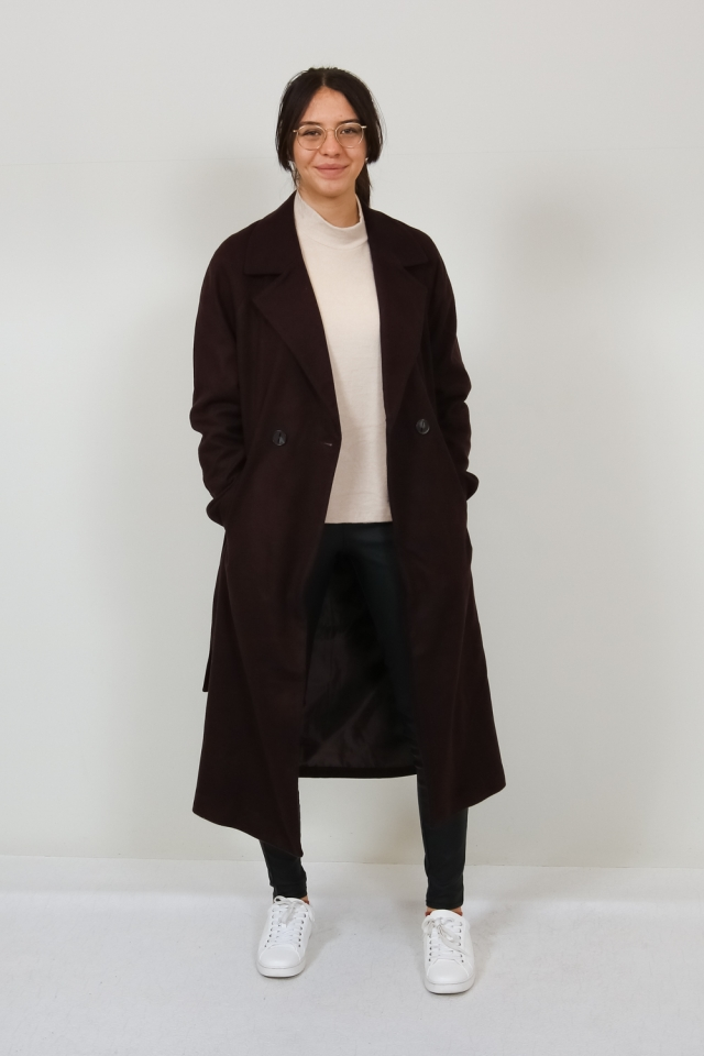 VMMERLEMAY LONG JACKET GA Chocolate Plum