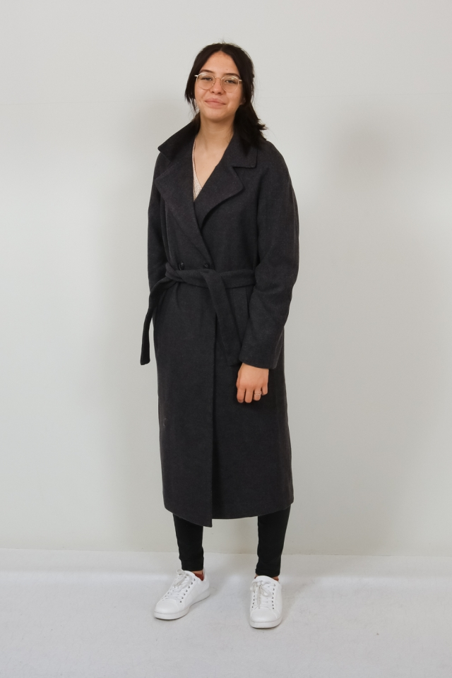 VMMERLEMAY LONG JACKET GA Dark Grey Melange