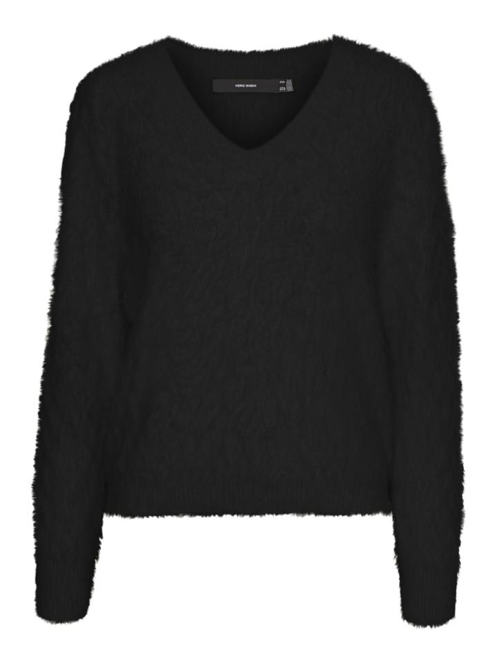 Vero Moda VMPOILU LS V-NECK BLOUSE BOO Black