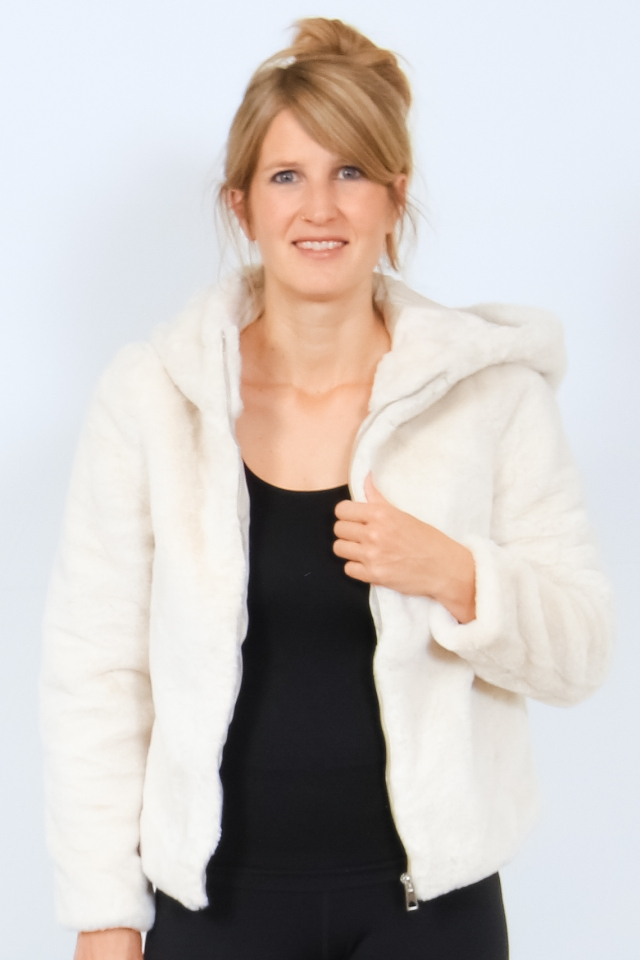 VMTHEA HOODY SHORT FAUX FUR JACKET Birch