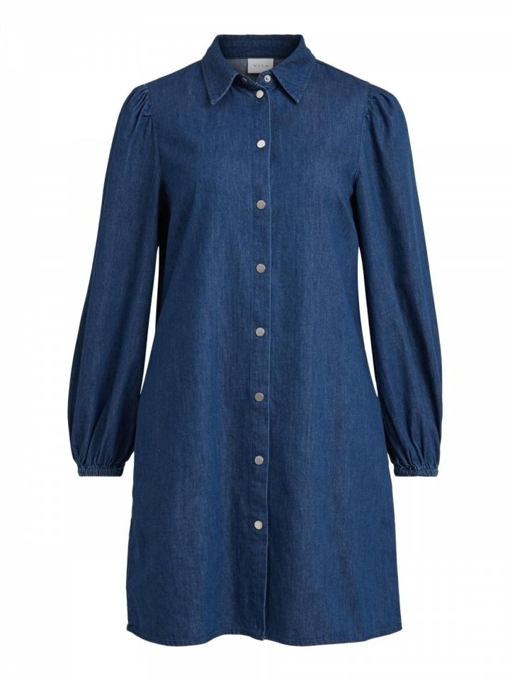 VIFEMIE DAIZY L/S DENIM DRESS Medium Blue Denim