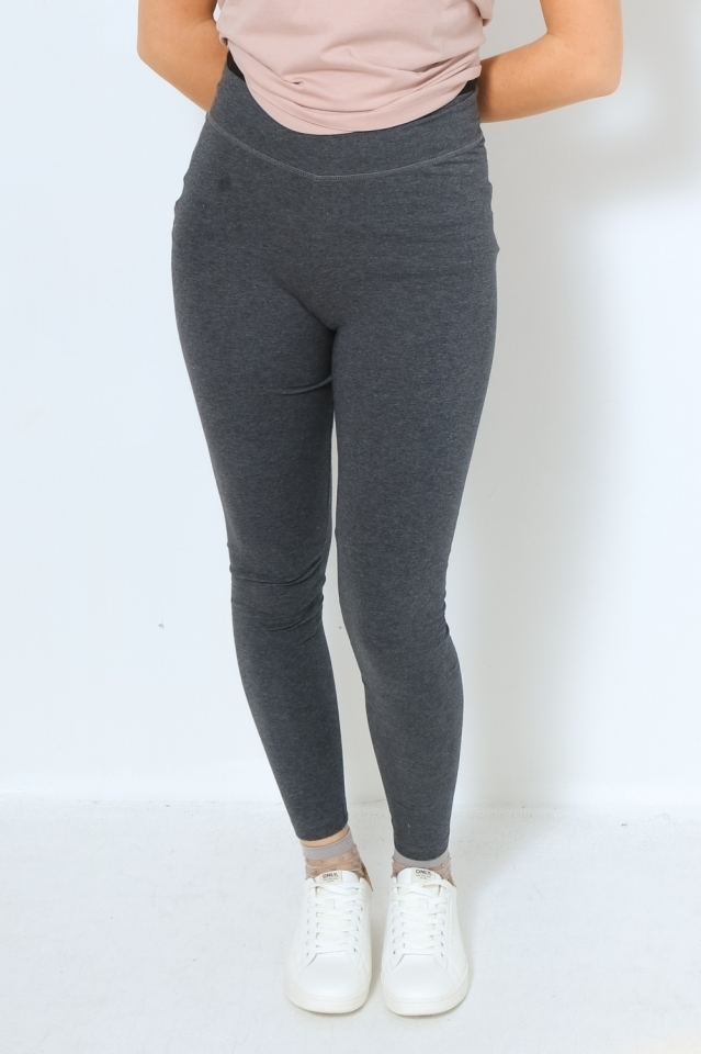 FARIBAA Hose Leggings Solid dark grey melange